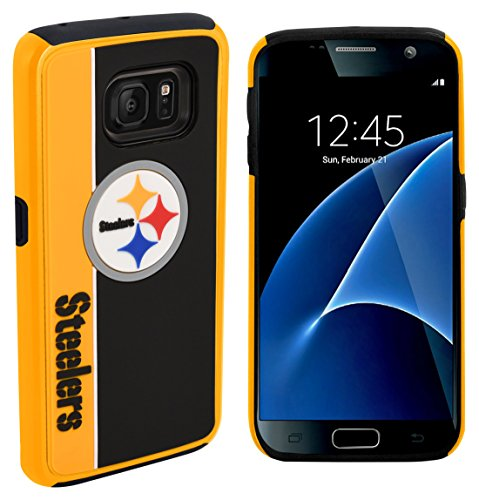 Forever Collectibles Dual Hybrid BOLD Series Case for Samsung Galaxy S7 – NFL Pittsburgh Steelers