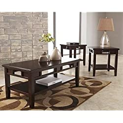 Signature Design by Ashley Logan 3 Piece Occasional Table Set - Coffee Table Set