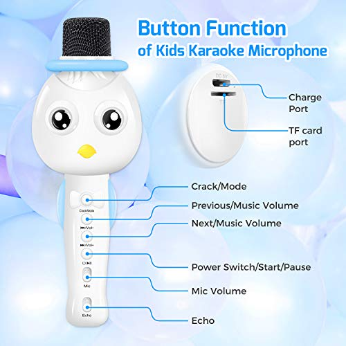 TONOR Kids Microphone, Wireless Portable Karaoke Bluetooth Mic for Kids with Speaker and Colorful Lights for Home Party KTV Birthday Gift Compatible with PC/iPad/iPhone/Android Smartphone by TONOR (Image #1)