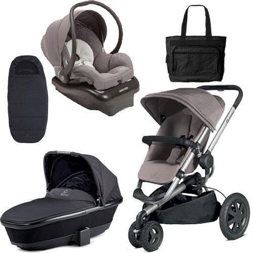 Quinny Buzz Xtra Pushchair In Purple Pace With Maxi Cosi: Quinny Travel System: Moodd Stroller Pink Pasison & Mico