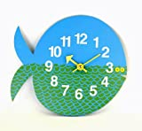 George Nelson Zoo Timer Fish Wall Clock, Blue/Green