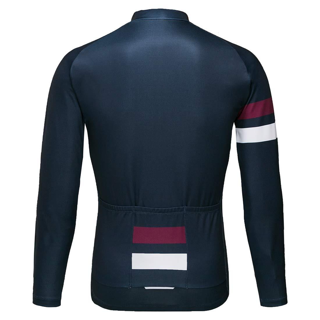 Wantdo Mens Long Sleeve Cycling Jerseys Biking Shirt Breathable Quick Dry Road Mountain Bicycle Jacket
