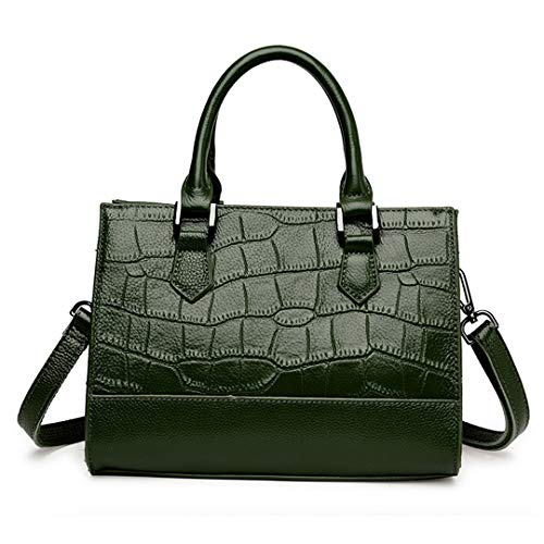 100 Leather Green Quality Ladies High Handbag xvq184x