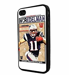 diy zhengNFL New England Patriots Edelman , Cool Ipod Touch 5 5th / Smartphone iphone Case Cover Collector iphone TPU Rubber Case Black