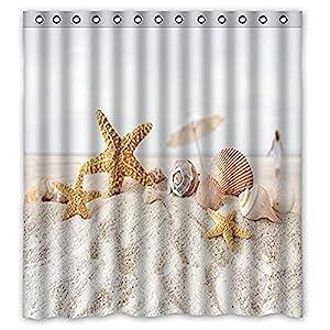 51GOA44M4WL._SS300_ Beach Shower Curtains & Nautical Shower Curtains