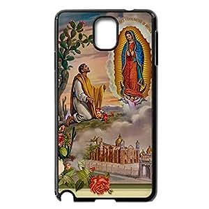 Custom DIY Virgin Mary Christian and Child Baby Jesus Hard Plastic Back Case for Samsung Galaxy Note 3 N9000 (Black 020345)
