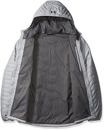 Under Armour hombres Coldgear Reactor con capucha de la chaqueta Overcast Gray/Graphite