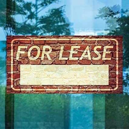 for Lease 5-Pack Ghost Aged Brick Window Cling 24x12 CGSignLab