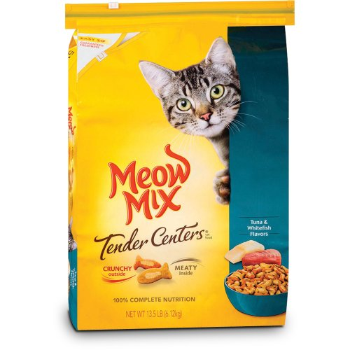 Meow Mix Tender Centers Tuna and Whitefish Dry Cat Food 13.5-Pound