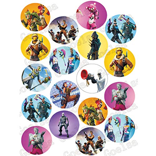 (ELSANI 36 x Edible Cupcake Toppers Themed Collection of Edible Cake Decorations | Uncut Edible Prints on 2 Wafer Sheet)