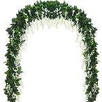 Yokoke Wedding Bridal Bridesmaid Bouquet Wedding Holding Flower Artificial Peony Rose Green Succulent Berry 7″ for Wedding Church Party Home Decor (Bouquet)