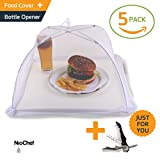 (5 Pack) Large Mesh Outdoor Food Covers By NioChef