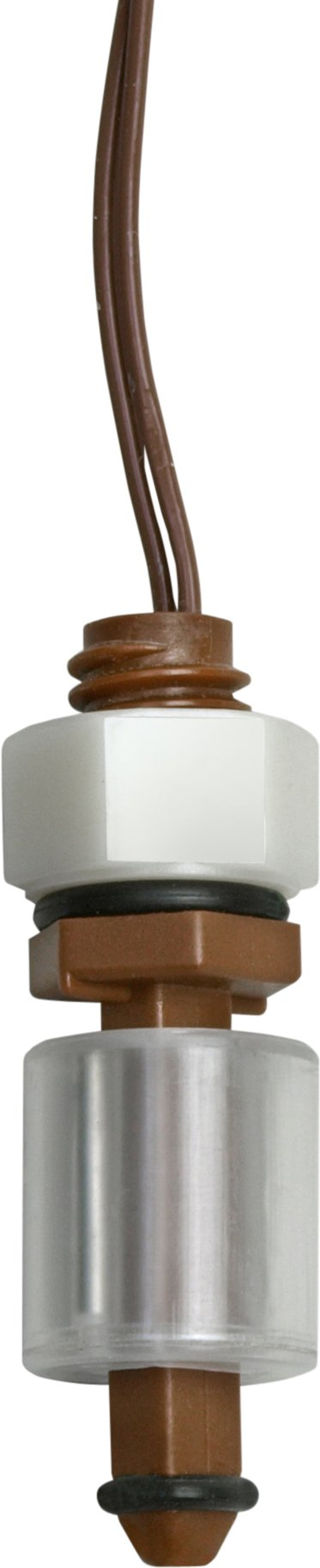 Madison M3326 Plastic Normally Closed Subminiature Liquid Level Float Switch with Polypropylene Stem, 15 VA SPST, 3/8''-16 UNC, 50 psig Pressure