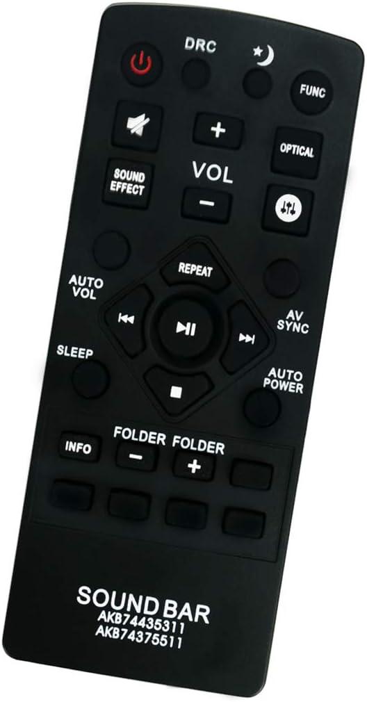 ALLIMITY AKB74435311 Reemplazo de Mando a Distancia para LG Sound Bar LAS450H LAS455H LAP250H LAS550H