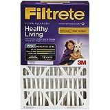 Filtrete Healthy Living Ultra Allergen Filter, MPR 1550, 16-Inch x 25-Inch x 4-Inch (4-3/8-Inch Depth), 4-Pack
