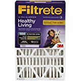 Filtrete Healthy Living Ultra Allergen Filter, MPR 1550, 20-Inch x 25-Inch x 4-Inch (4-3/8-Inch Depth), 4-Pack