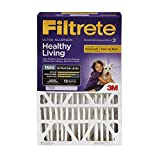 Filtrete MPR 1550 16 x 25 x 4 (4-3/8 Actual Depth) Healthy Living Ultra Allergen Deep Pleat HVAC Air Filter, 4-Pack