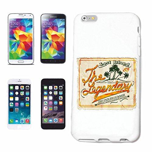 caja del teléfono iPhone 6+ Plus ISLANDIA PERDIDO LA LEYENDA DE ONDAS tropicales surf BEACH FESTIVAL DE VERANO PLAYA TABLAS DE SURF LONGBOARD Beginner Shop Caso duro de la cubierta Teléfono Cubierta
