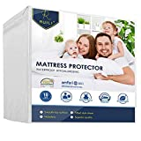 Full Size Premium 100% Waterproof Mattress Protector-Vinyl Free, Hypoallergenic Fitted Mattress Protector
