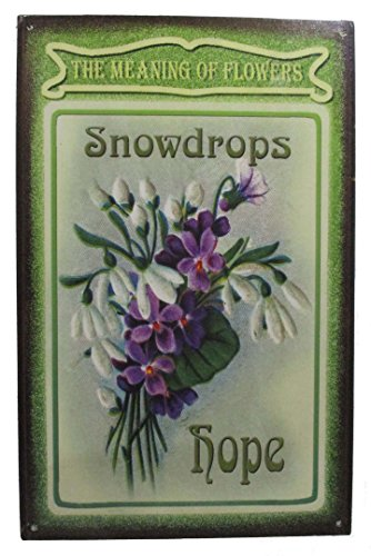 Snowdrops Flower of Spring Flowers Garden  Rustic Metal Sign