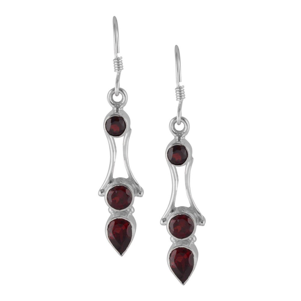 DV Jewels Garnet Gemstone Dangle Earring