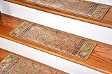 Dean Premium Carpet Stair Treads - Peach Scrollwork (13)