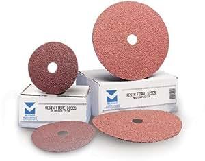 Mercer abrasivos 301080–254–1/2-inch por 7/8-inch resina discos de fibra de óxido de aluminio, grano 80, 25unidades) tamaño: 80Grit, Modelo: 301080–25, herramientas y Ferretería