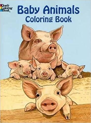 baby animals coloring book dover coloring books ruth soffer 0800759433315 amazoncom books