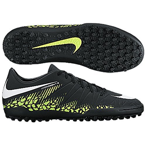 Nike Men's Hypervenom Phelon II TF Turf Soccer Cleats (Sz. 9) Black, Volt (Volt Football Cleats compare prices)