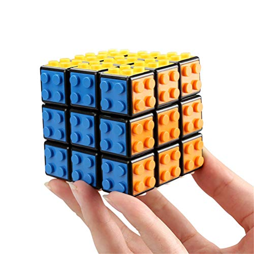 - PPu Speed Cube Building Blocks, 3×3 Small Particles Adult Children's Educational Toys Smooth Racing Cube