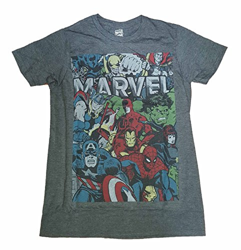 Marvel Comics Group Photo Avenges Daredevil X-Men Graphic T-Shirt - Small