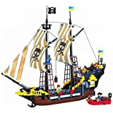 Enlighten Pirate Ship Boat Adventure Building Block 590pcs (without Toy Packing Box)