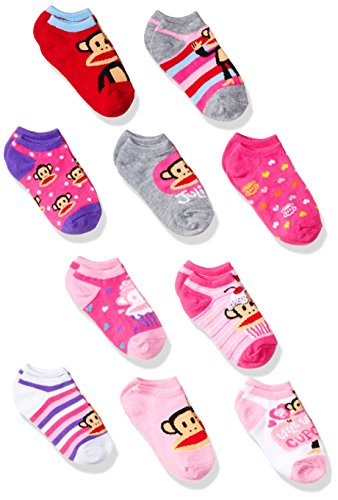 paul-frank-girls-10-pack-no-show-socks-assorted-5-65