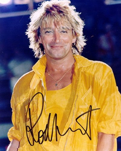 Rod Stewart Autographed Preprint Signed - Graph Rod