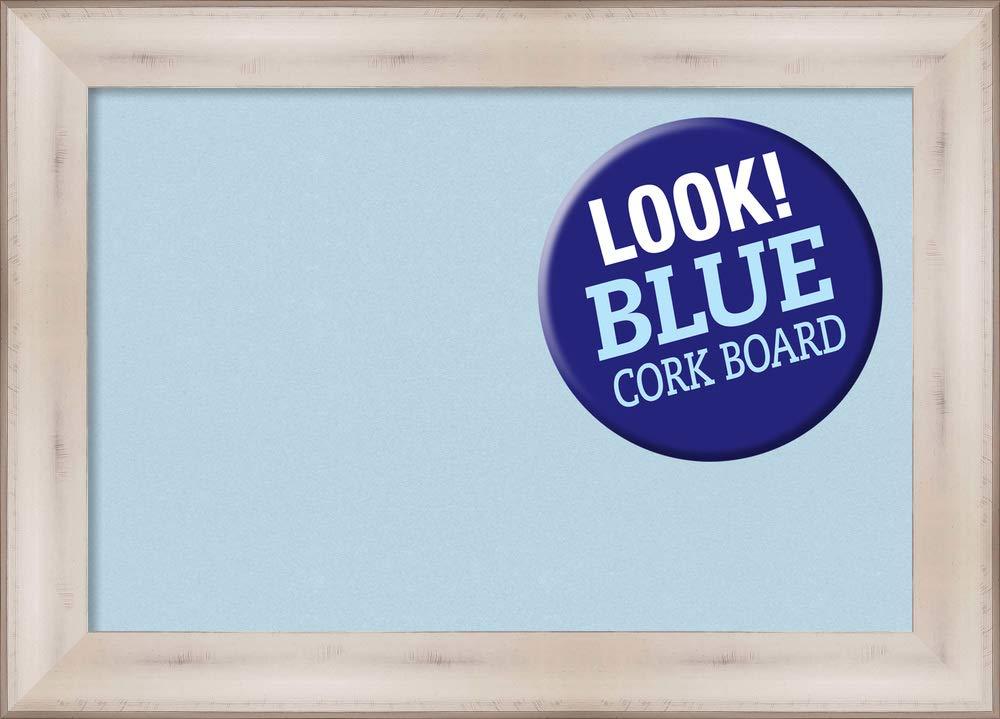Framed Blue Cork Board Bulletin Board | Blue Cork Boards Allure White Frame | Framed Bulletin Boards | 28.50 x 20.50'' by Amanti Art