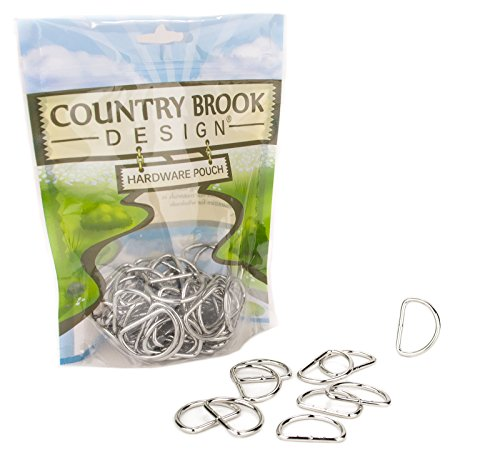 50 - Country Brook Design | 1 Inch Lightweight Welded D-Rings by Country Brook Design
