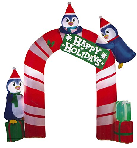 Christmas Inflatable Happy Holidays Penguin Archway by Holiday Time