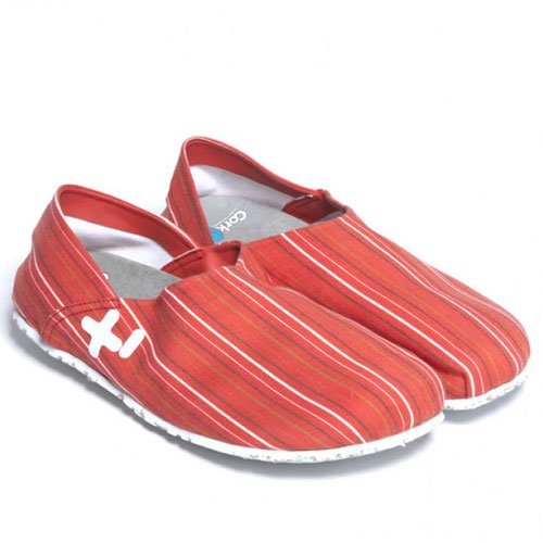 Oetzi3300 3702 Red Ladies Casual Red Stripe