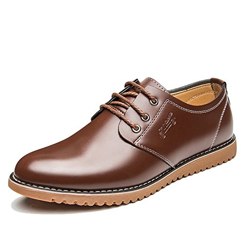 WKNBEU Uomo Primavera Estate Nero Marrone Moda Low Top Scarpe Da Lavoro Casual Formale Di Oxford Derby Oxford Brown