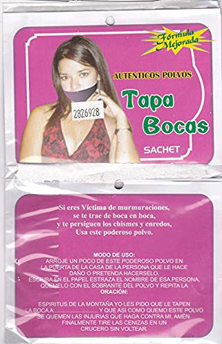 from: SUPER FAST SHIPPER HIBISCUS EXPRESS, http://www.amazon.com/shops/AXD9LOVGJXES3 TAPA BOCA POLVO ESPIRITUAL - SHUT UP SACHET POWDER by from: SUPER FAST SHIPPER HIBISCUS EXPRESS, http://www.amazon.com/shops/AXD9LOVGJXES3 (Image #3)