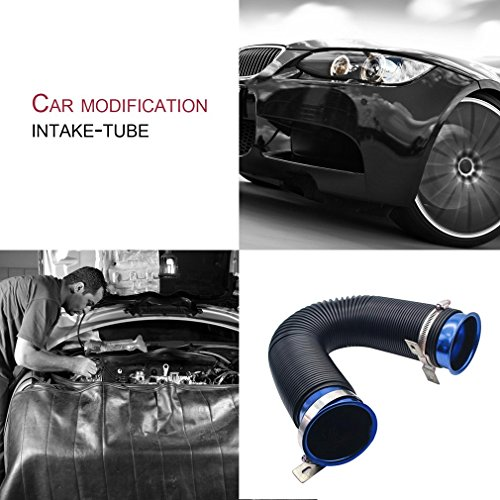 Revolver Car Modification Supplies Telescopic Tube Ventilation Tube Flexible Intake Air Pipe 76MM Expandable Cold Air Intake Kit D: