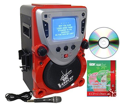 Sakar The Voice CD/CDG Karaoke Machine with Christmas Pack & 2 Mics Bundle -  Ace Karaoke, HSAKPK0001