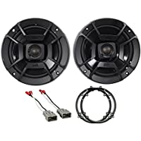 Front Polk Audio Speaker Replacement Kit+Harness For 2003-2007 Honda Accord