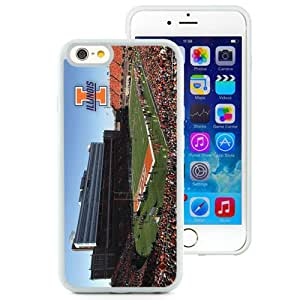 Fashionable And Unique Custom Designed With Ncaa Big Ten Conference Football Illinois Fighting Illini 15 Protective Cell Phone Hardshell Cover Case For iPhone 6 4.7 Inch TPU Phone Case White