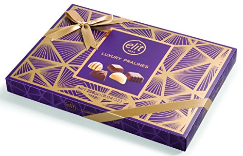 - Elit - Luxury Pralines Chocolate (Purple Box with Gold Ribbon) 228 g/8.04 Oz