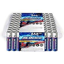 ACDelco AAA Batteries, Super Alkaline AAA Battery, Bulk Pack, 100 Count