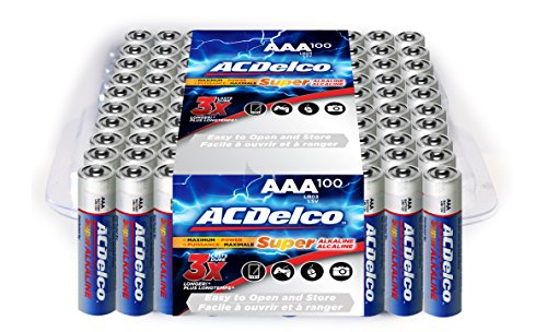 Price comparison product image ACDelco Super Alkaline AAA Batteries, 100-Count