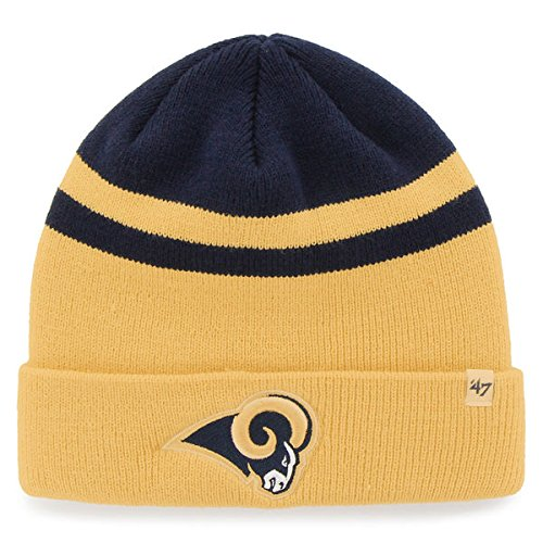Los Angeles Rams '47 Brand Cedarwood Knit Cuffed Hat Navy/Gold by '47
