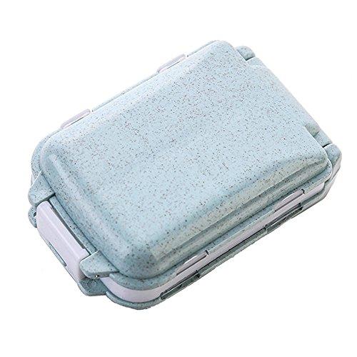 Travel Portable 8 Compartments Pill Medicine Storage Organizer Box Holder Case