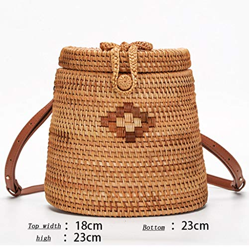 Women's Bag, Fashion Bag - Summer Women's Bag - Hand-Woven Rattan Bag - Crossbody Beach Bag by BHM (Image #1)